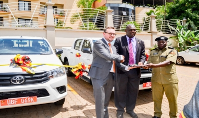 DFID HANDS OVER VEHICLES TO ODPP (U) AND CID